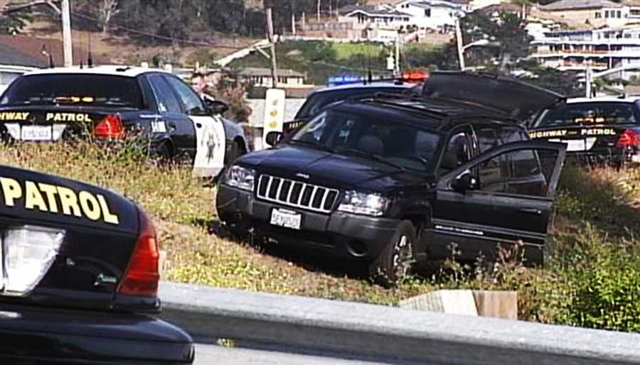 During the 3-hour chase across half the Central Coast, the driver was under the influence of a controlled substance and raced at speeds topping 105 mph in this black Jeep, CHP Officer Robert Lehman said.
