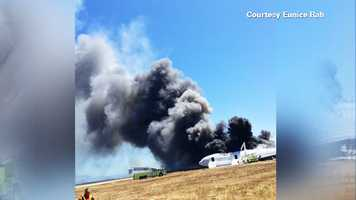 A fireball erupted after the Boeing 777 airliner hit the runway hard around 11:30 a.m., rocked back and forth, spun around, shearing off the plane's tail.