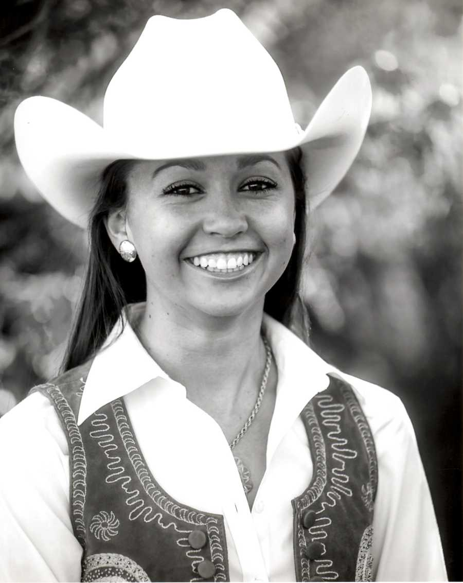 Tobias is the daughter of Charles and Lisa Tobias of Tres Pinos. She is representing her area as Miss San Benito Rodeo. Grace attends UC Davis, is majoring in Animal Science, and her goal is to attend the UC Davis School of Veterinary Medicine. While a participant of the UC Davis Collegiate Livestock Judging Team and Livestock Show Team, she serves as the Vice President of the Young Cattlemen's Association of UC Davis. Growing up on a cattle ranch in San Benito County and learning the necessary skills and techniques of the Vaquero tradition has led Grace to compete in reined cow horse. Through her many 4-H experiences she reached the high honor of California State 4-H Ambassador and works with the current Ambassador team to organize the California State Leadership Conference that will celebrate the 100th year of the 4-H program in California. Grace enjoys spending time with her family and classic Mustangs.