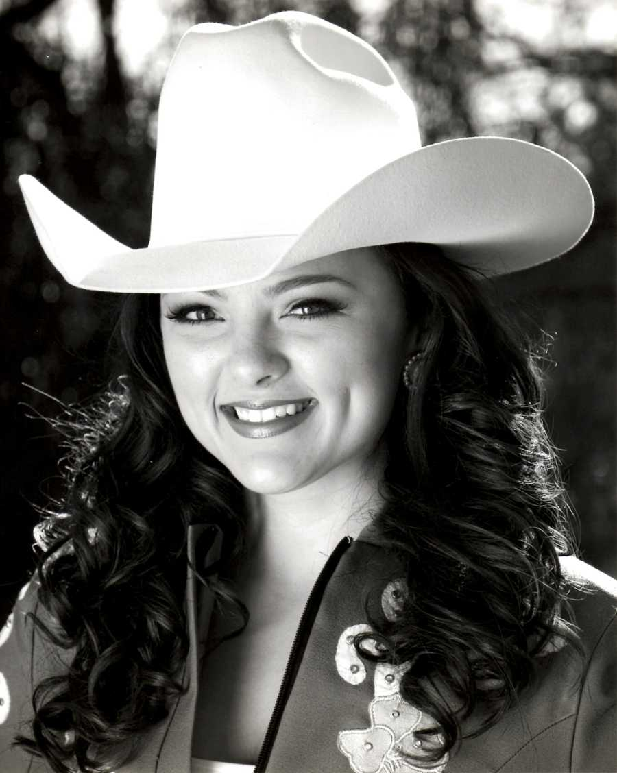 Erin Stueve was a finalist contestant. She entered as Miss Rodeo Oakdale and she is the daughter of Robert and Deborah Stueve. While currently attending CSU Fresno as a Speech-Language Pathology major, Erin has hopes of being admitted into their Masters Program to become a licensed, practicing Speech-Language Pathologist by 2016. With past experience showing western pleasure and reining, she also loves camping with her family and horses during the summer as a great way to appreciate nature. In recent years dedication to hard work, learning from awesome individuals and encouragement from a loving family have given Erin the opportunity to represent great rodeos and associations as their queen. Erin has always been very involved in community service and volunteering. She has raised puppies for Guide Dogs for the Blind and has volunteered at a summer camp for visually impaired youth. When not attending school or working, Erin loves spending time outdoors snowboarding, wakeboarding and playing sports.