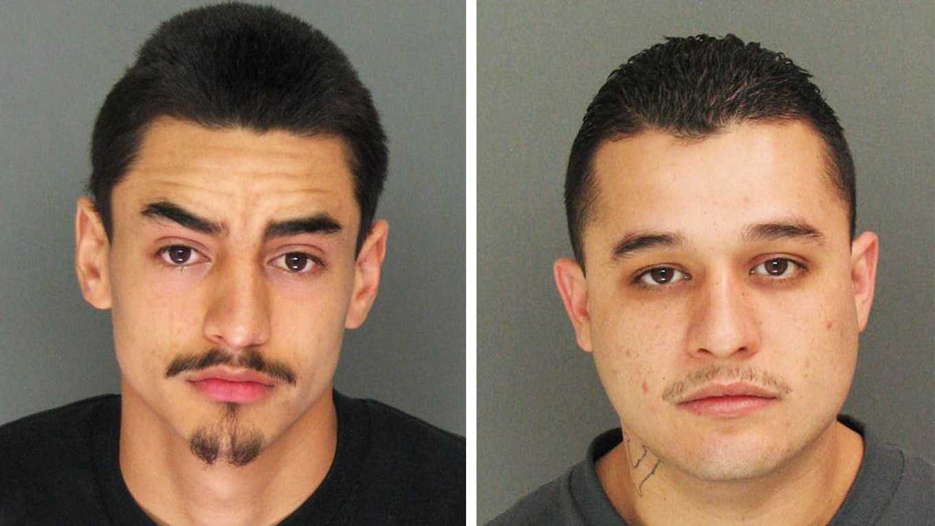 Cesar Rosales, left, and Miguel Angel Rodriguez, are charged with homicide.