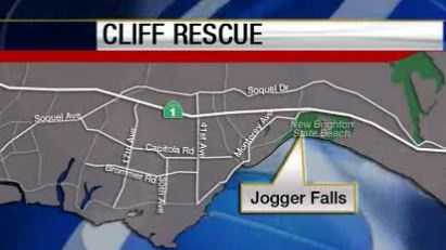 New Brighton State Beach cliff rescue