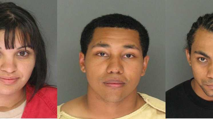 Marisa Arroyo, Michael Bates and Marcus Bates were arrested in connection with a shooting Friday in Santa Cruz along Mission Street.