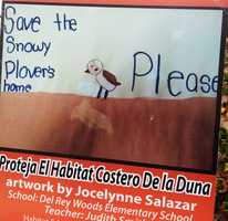 Artist Jocelynne Salazar is a student at Del Rey Woods Elementary School.