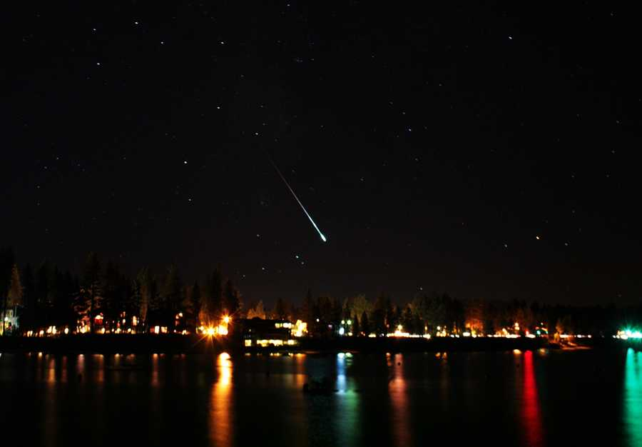 A Perseid meteor is seen on Aug 12, 2010 over South Lake Tahoe, Calif.For over 2,000 years people have been watching the Perseid meteor shower. This year is no exception as the Perseid meteor shower peaks on August 12 and 13, 2013. Enjoy the images already captured from this celestial event.