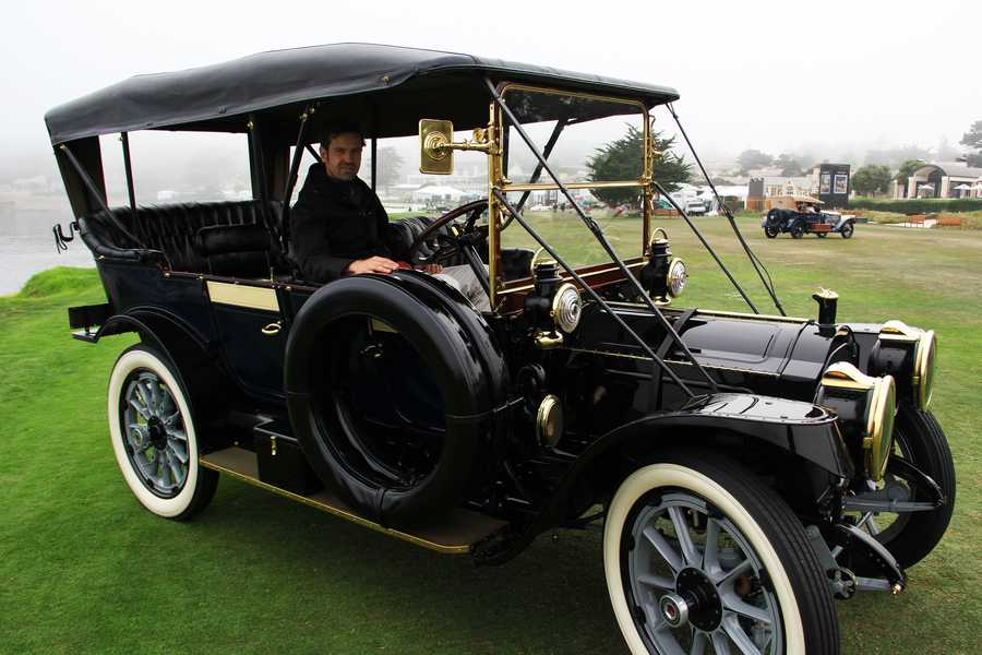 Derek Hill is a concours judge and owner of this 1912 Packard.