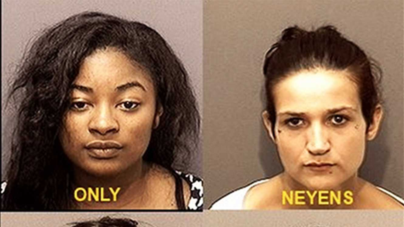 Dominique Only, Diana Neyens, Lameshia Johnson, and Marquisha Brown were arrested in Marina on suspicion of prostitution.