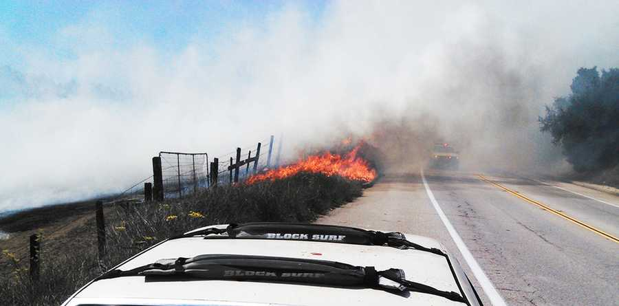 Fire crews had a helicopter battling the blaze from the air within minutes of it breaking out. Black smoke was seen by many motorists on Mission Street, Morrissey Boulevard and Highway 1. (Aug. 26, 2013)