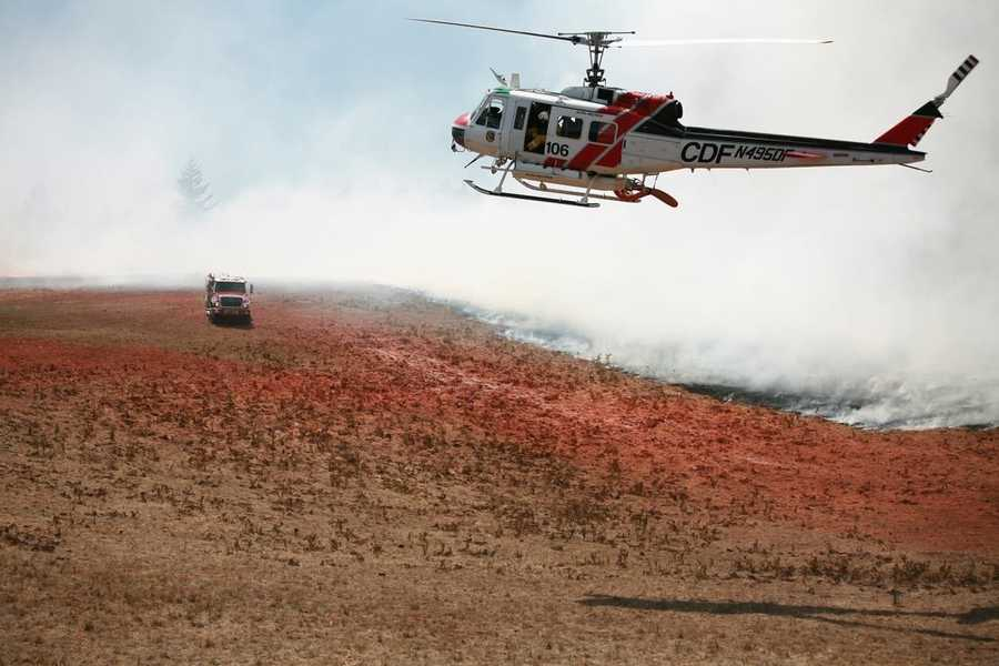 No structures were threatened and no one was injured, according to CalFire. (Aug. 26, 2013)