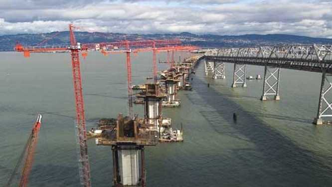 In 2002, construction began on the new Bay Bridge.