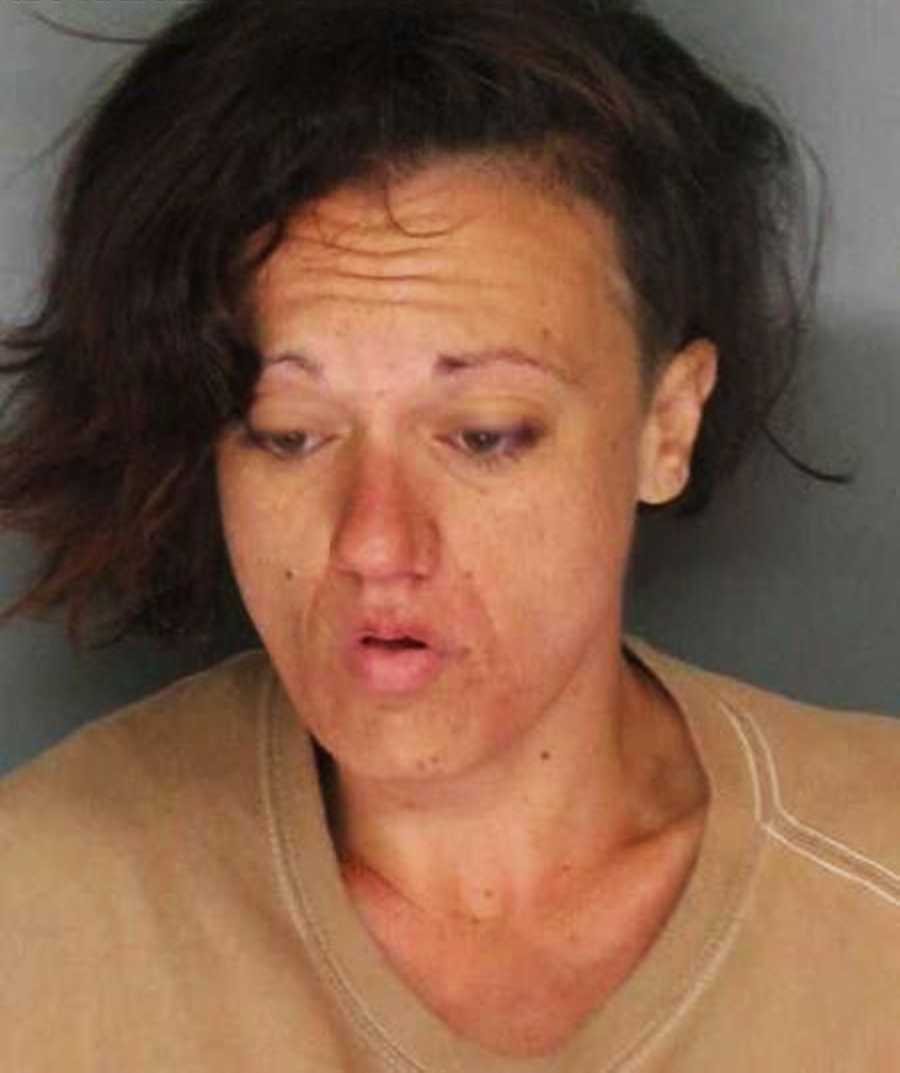 This is Kelly Hawkins' mug shot from Aug. 26, 2013, when she was arrested in downtown Santa Cruz on charges of resisting arrest, trespassing, and violating probation.