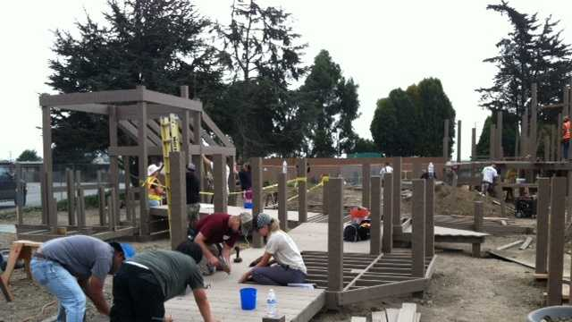 The Salinas community has banded together to raise thousands of dollars to build a playground for children with special needs.