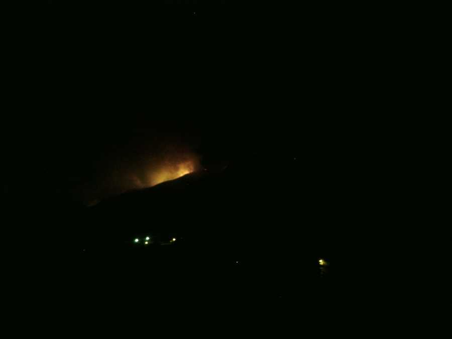 U local users submitted these images of the fire: