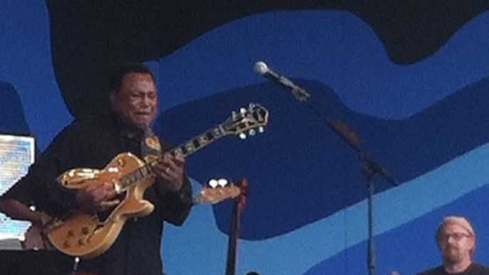 Guitarist George Benson performed at the 56th Annual Monterey Jazz Festival.