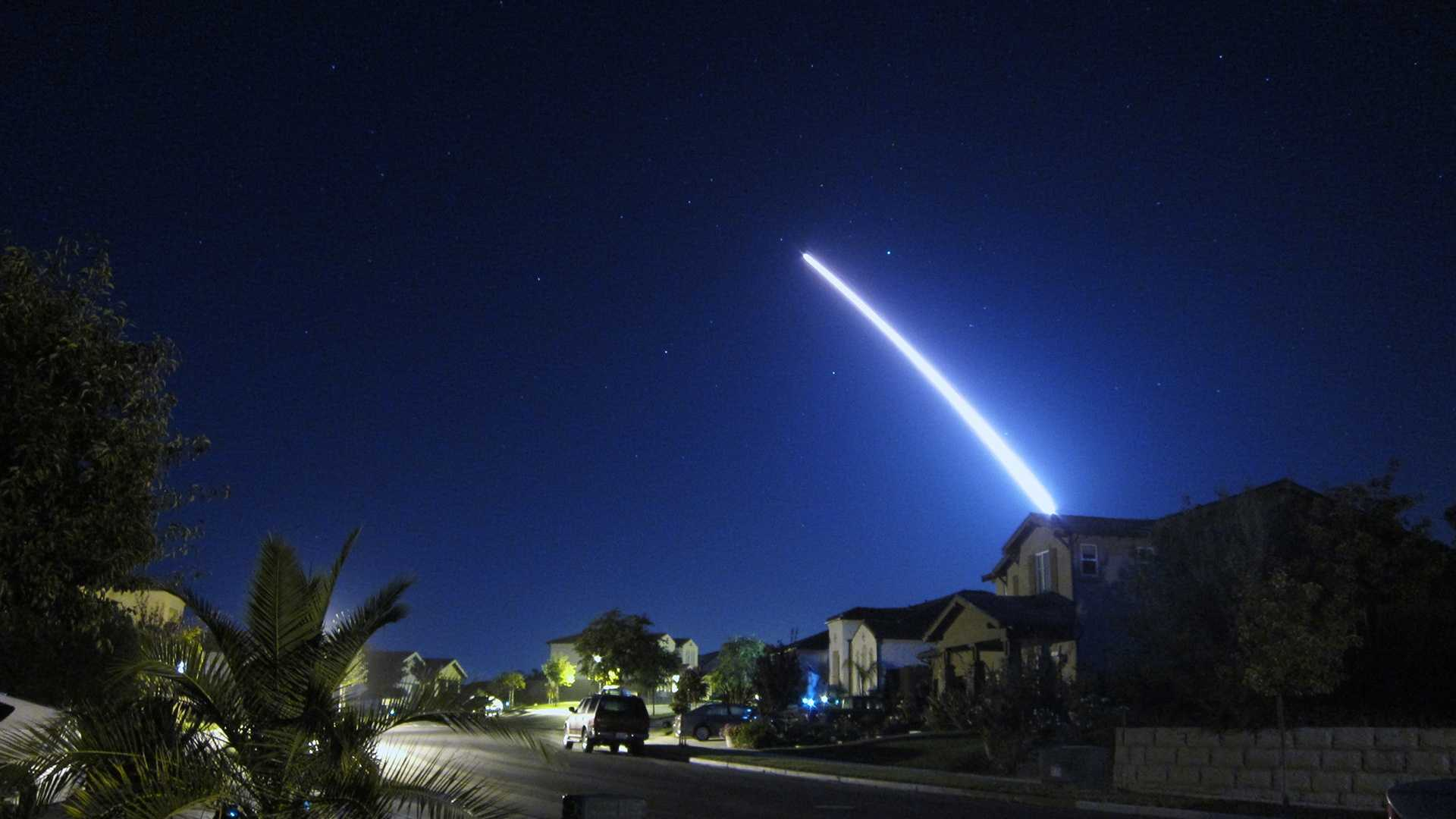 Lt. Col. Andy Wulfestieg, USAF, shot this photograph from Lompoc, Calif.