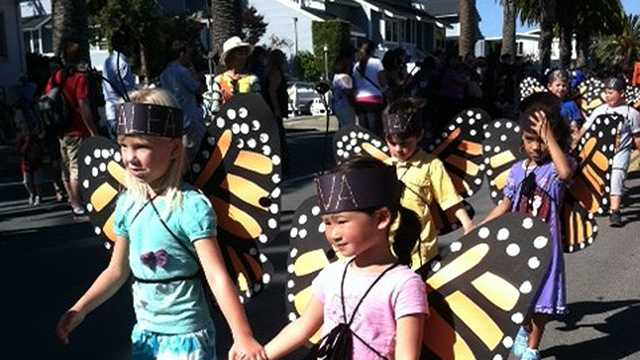 Kids, parents celebrate 75th Butterfly Parade