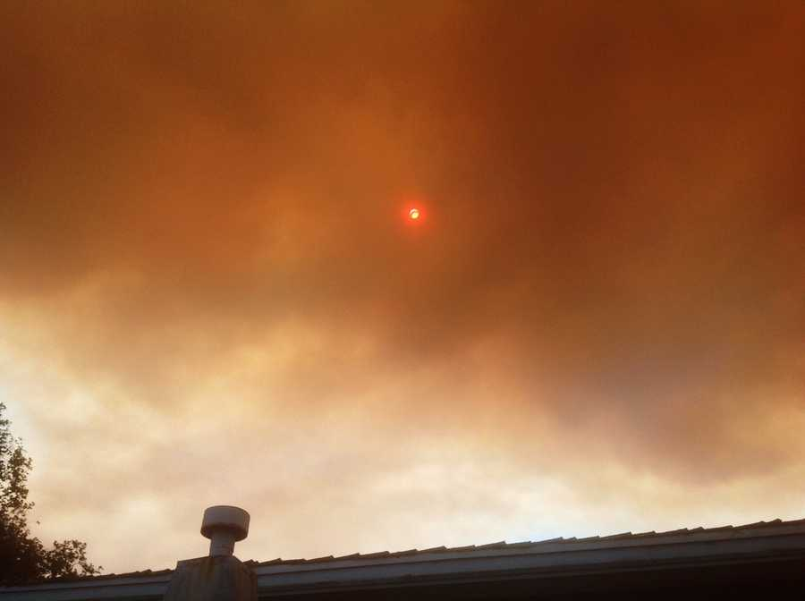 The sky turned from crystal blue to orange and brown in Monterey Monday.