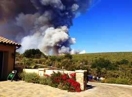 This photo by Elaine was shot from the Pasadera neighborhood off Highway 68 between Monterey and Salinas Monday.
