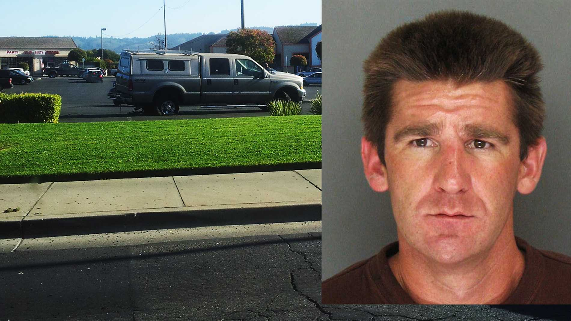 Nathan Anderson lead officers on a chase through Watsonville Wednesday.