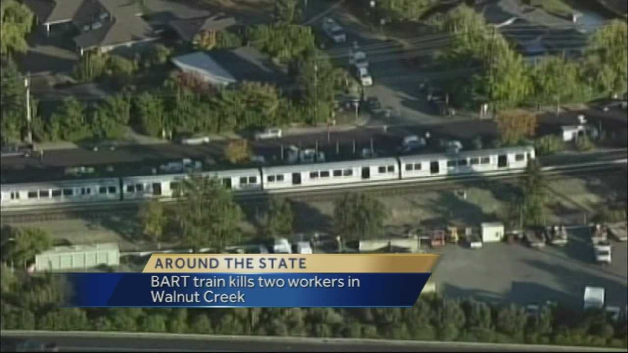 An out-of-service Bay Area Rapid Transit train struck and killed two workers on a section of track on Saturday.