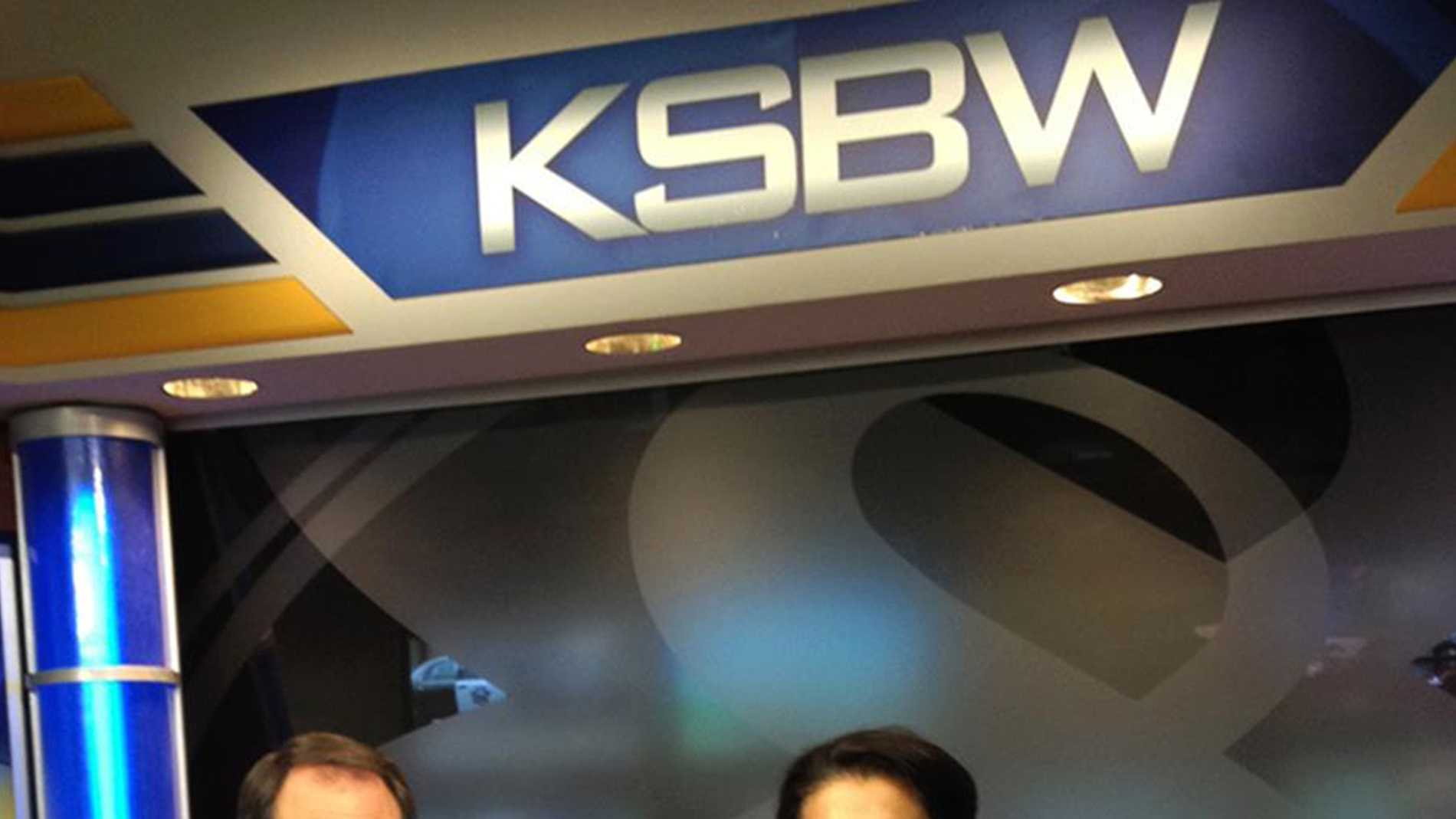 Dina Eastwood guest anchored with Dan Green for KSBW's newscast in November.