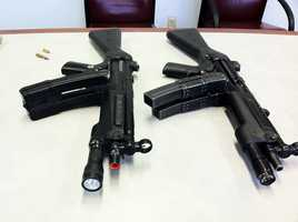 One of these guns is fake. Can you tell which one is real and which one is fake?