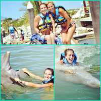 Hill recently had a chance to swim with dolphins in Cabo San Lucas.