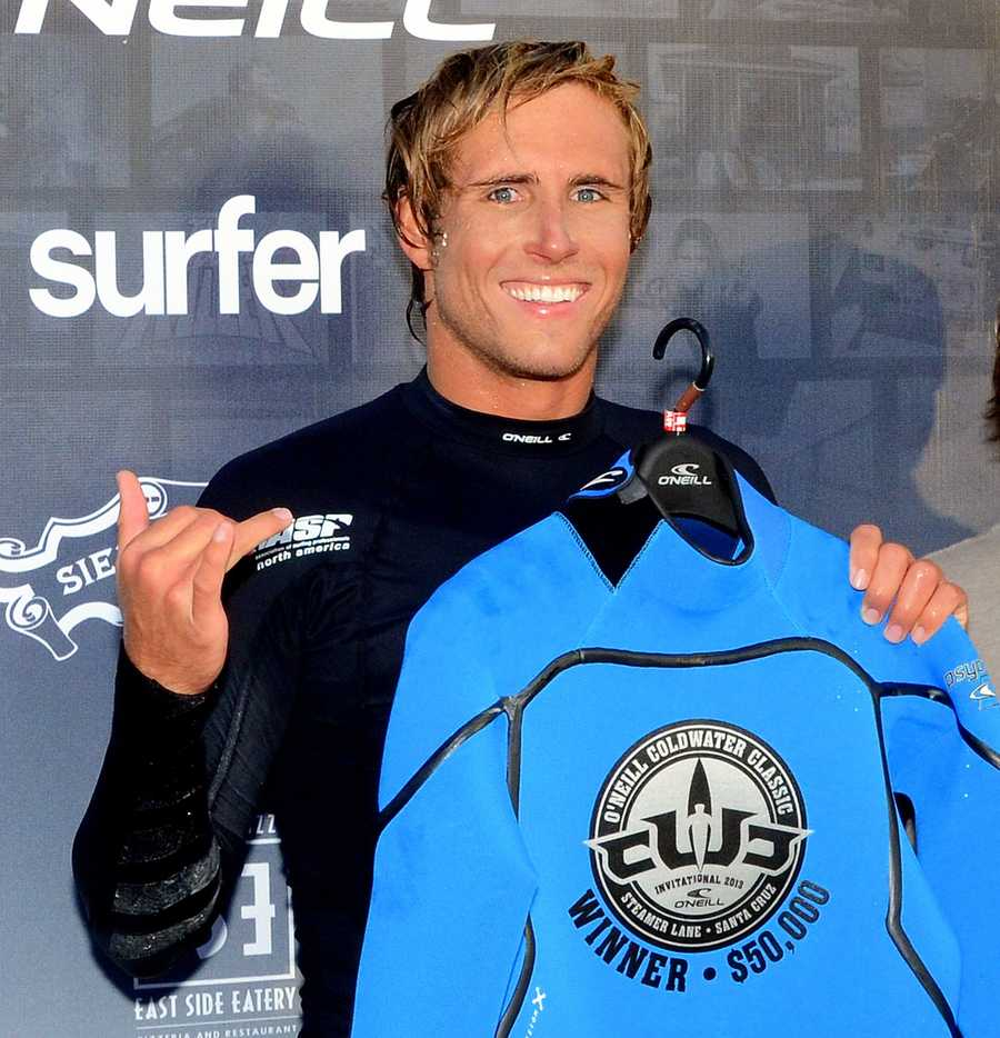 Meister is all smiles after winning the 2013 O'Neill Coldwater Classic.