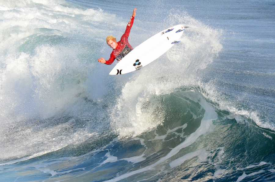 Nat Young, a Santa Cruz surfer who is currently ranked in the top 10 of the world and is on the ASP World Championship Tour, was not in the Coldwater lineup, but had fun during an expression session.