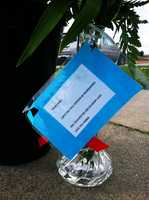 "One letter attached to a rose read, ""To my boo. Linda you will forever be remembered. You touched me and so many lives."""