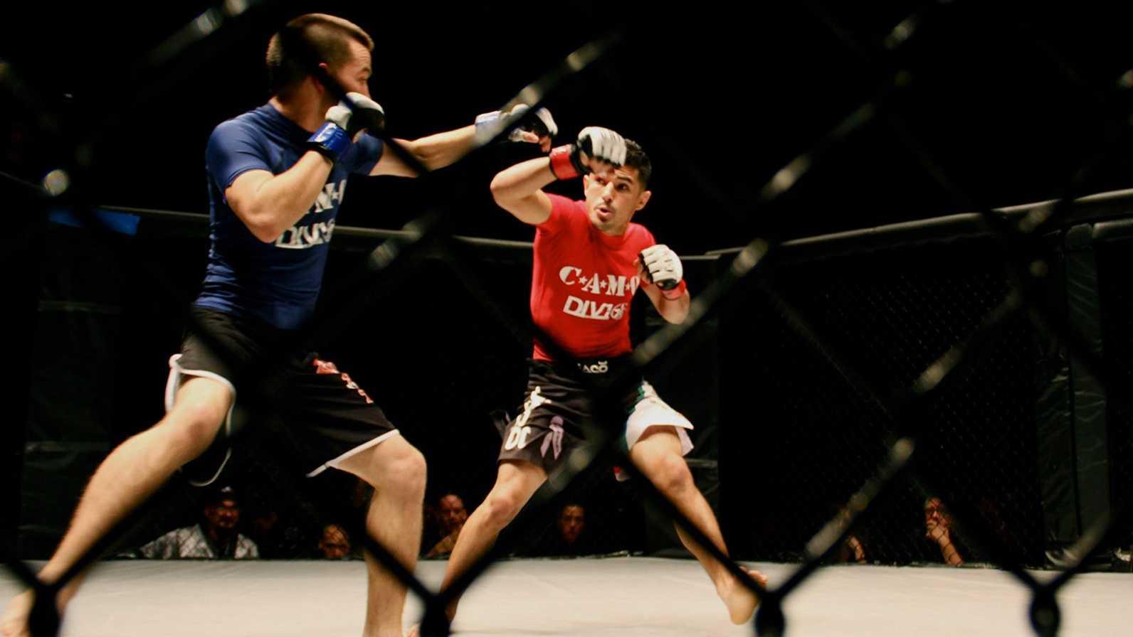 MMA fighters box in Santa Cruz.