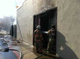 A fire Saturday destroyed an antique shop and Chinese restaurant on Washington Street in San Juan Bautista.