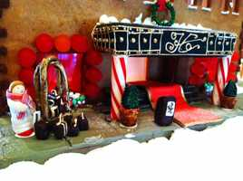 Seven skilled pastry chefs at Spanish Bay Inn in Pebble Beach completed this gingerbread house Dec. 4.