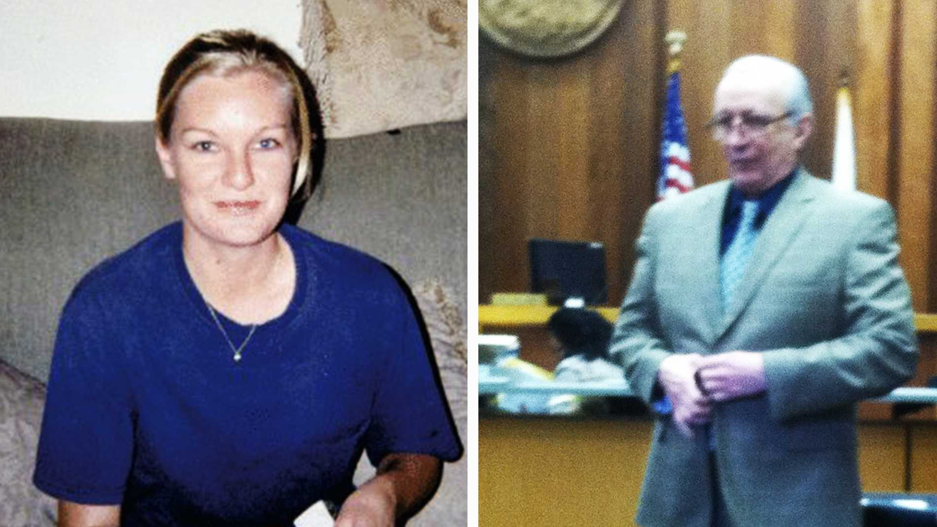 Heather Marie Stearns, left, andJohn Bruce Clauer, right.
