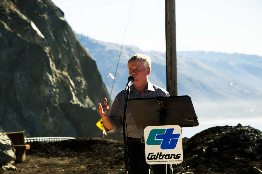 Monterey County Supervisor David Potter speaks during a ribbon cutting ceremony. / Photo by Stan Russell