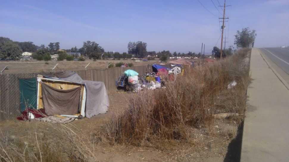 Salinas homeless camp
