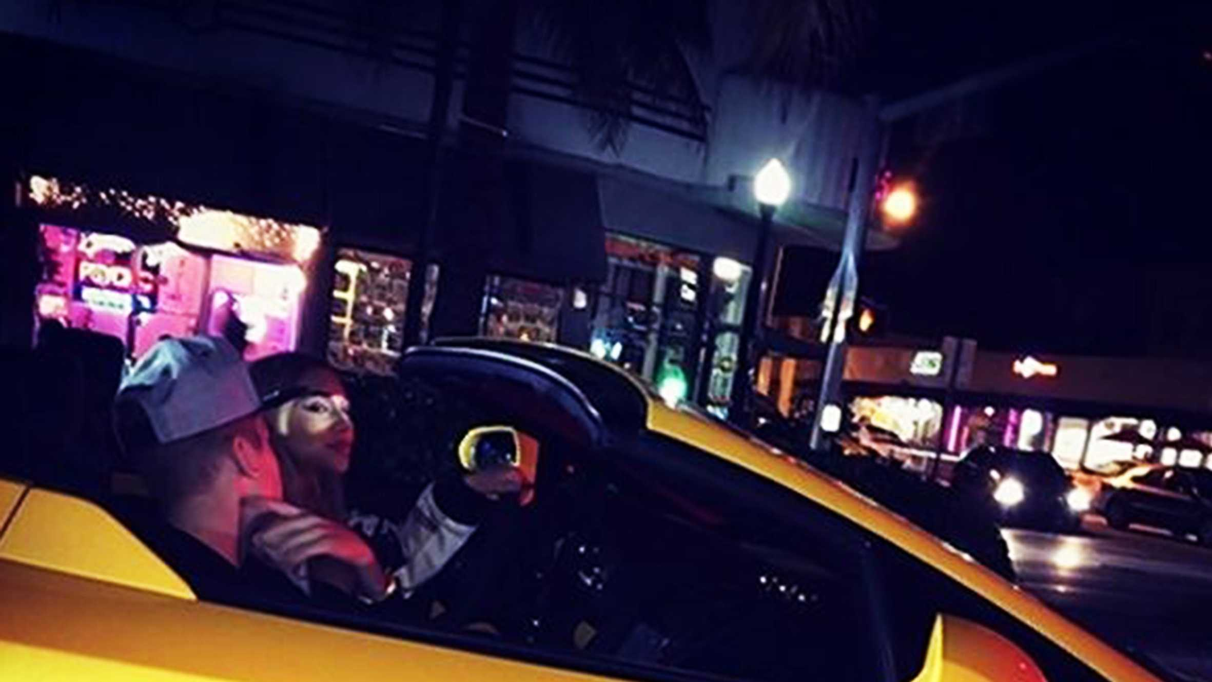 Justin Bieber let his gal pal Chantel Jeffries drive the yellow Lamborghini before he got behind the wheel Thursday.