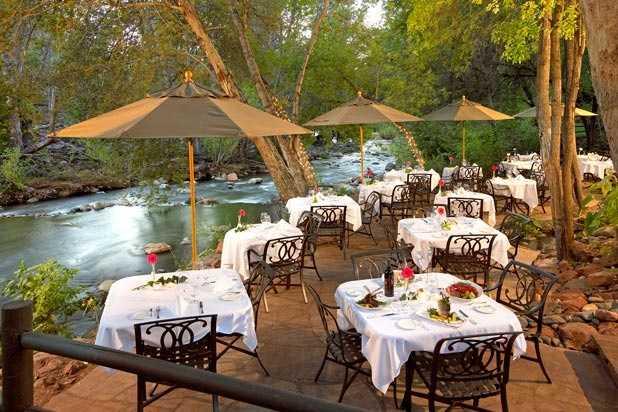 5.  L'Auberge Restaurant on Oak Creek - Sedona, AZ