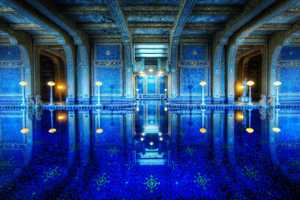 Dance scenes for Lady Gaga's music video were filmed in the castle's indoor blue-and-gold tiled Roman Pool.