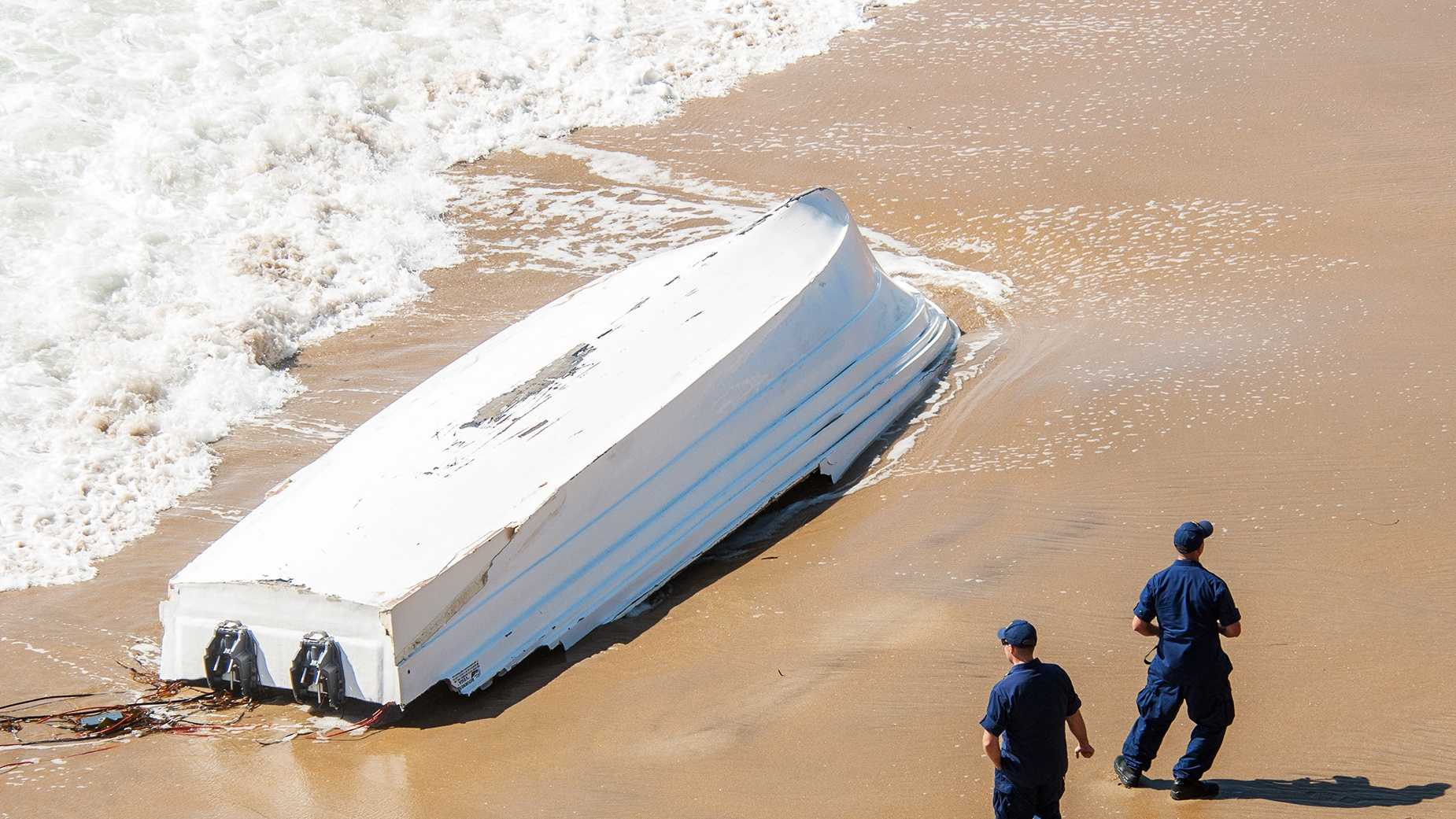 A drug smuggling boat was found at Four Mile Beach north of Santa Cruz in October 2013.