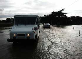 Pajaro Dunes streets were heavily flooded Friday.