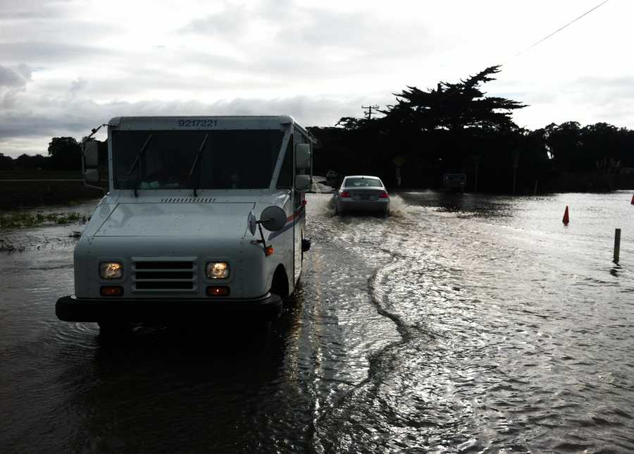 Pajaro Dunes streets were heavily flooded Friday.