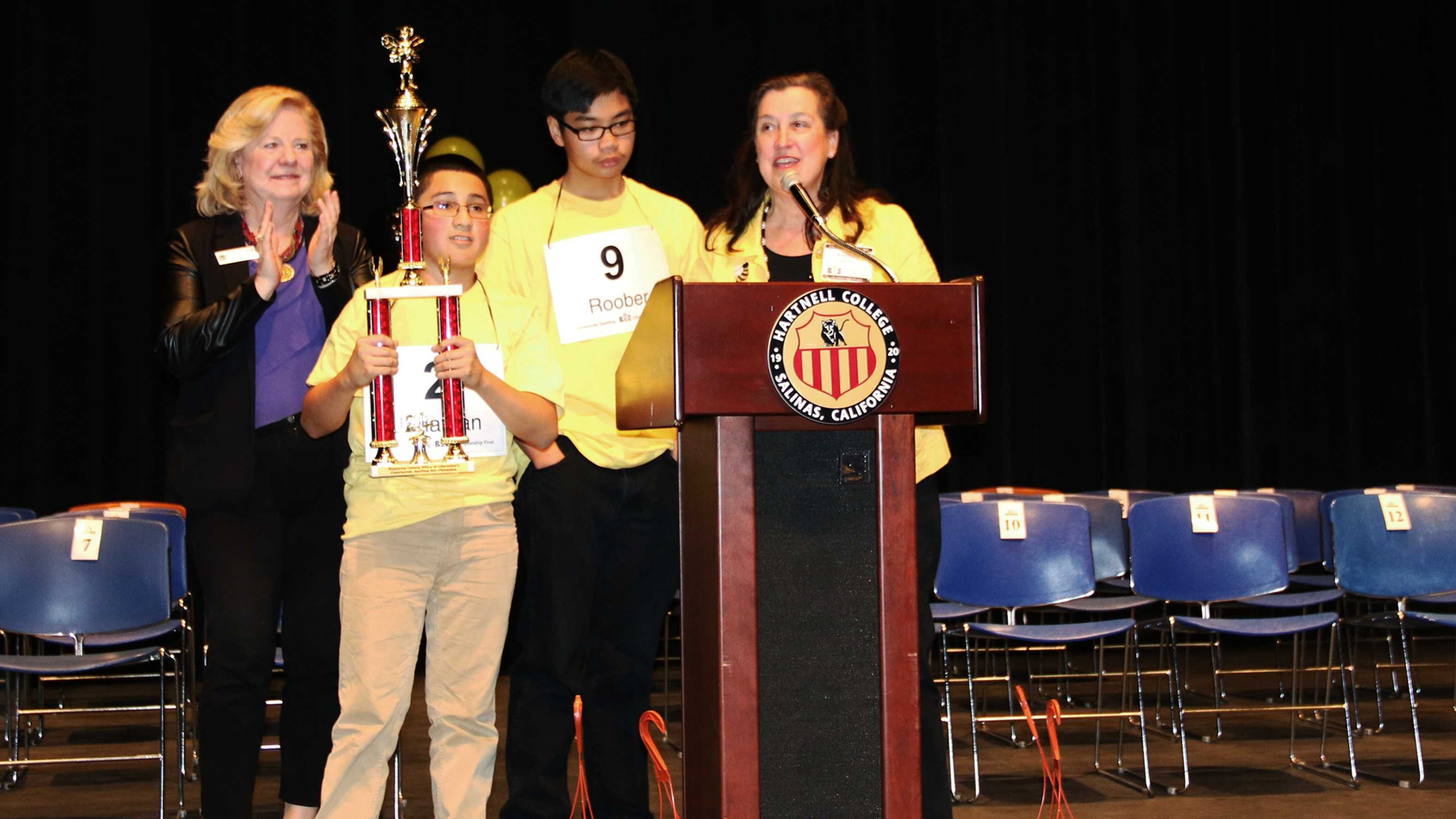 Jonathan Capuyan won the 2014 Monterey County Spelling Bee.