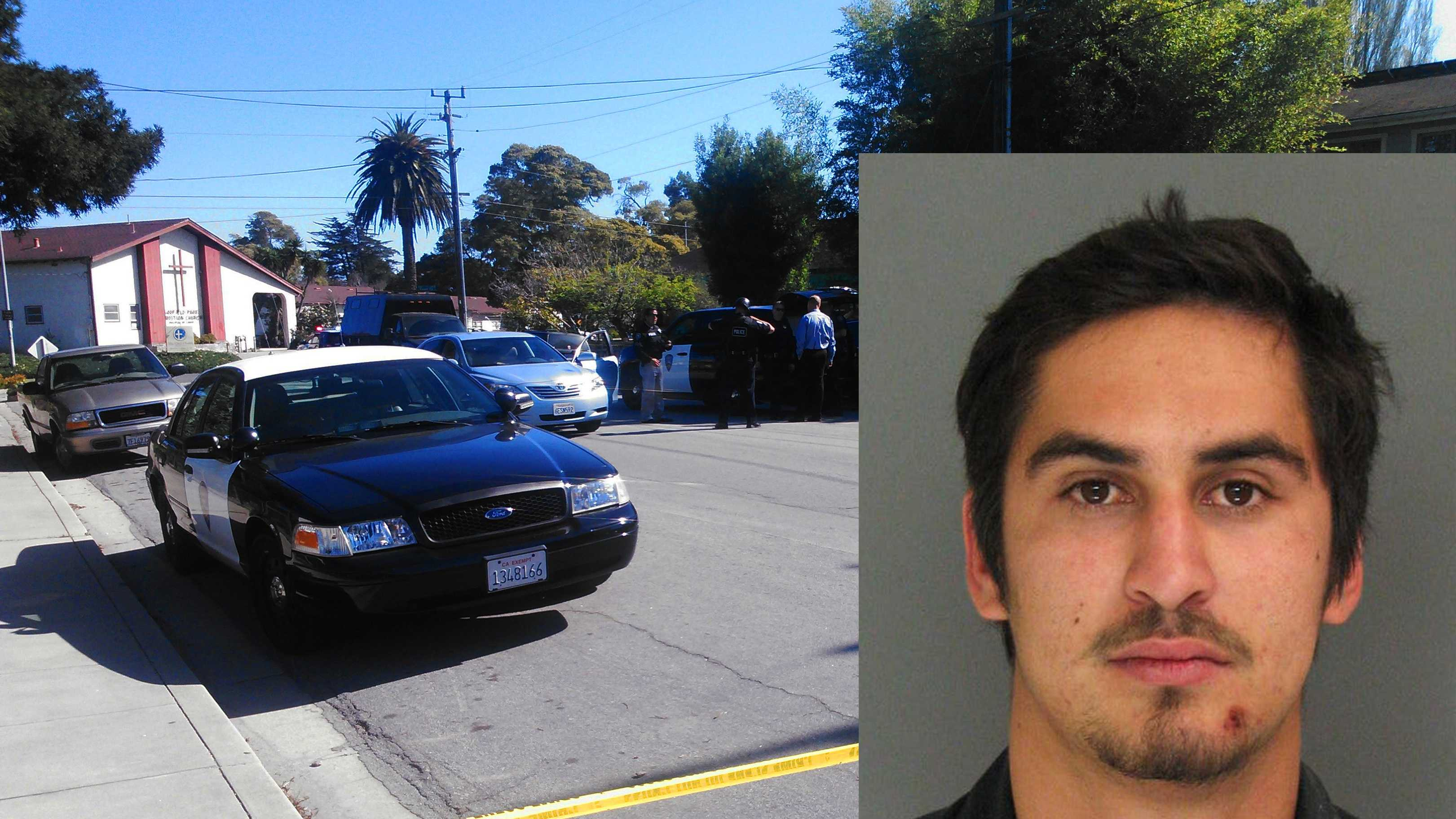 Kyle Lee Allala called 911 and said someone shot his girlfriend on Errett Circle in Santa Cruz.