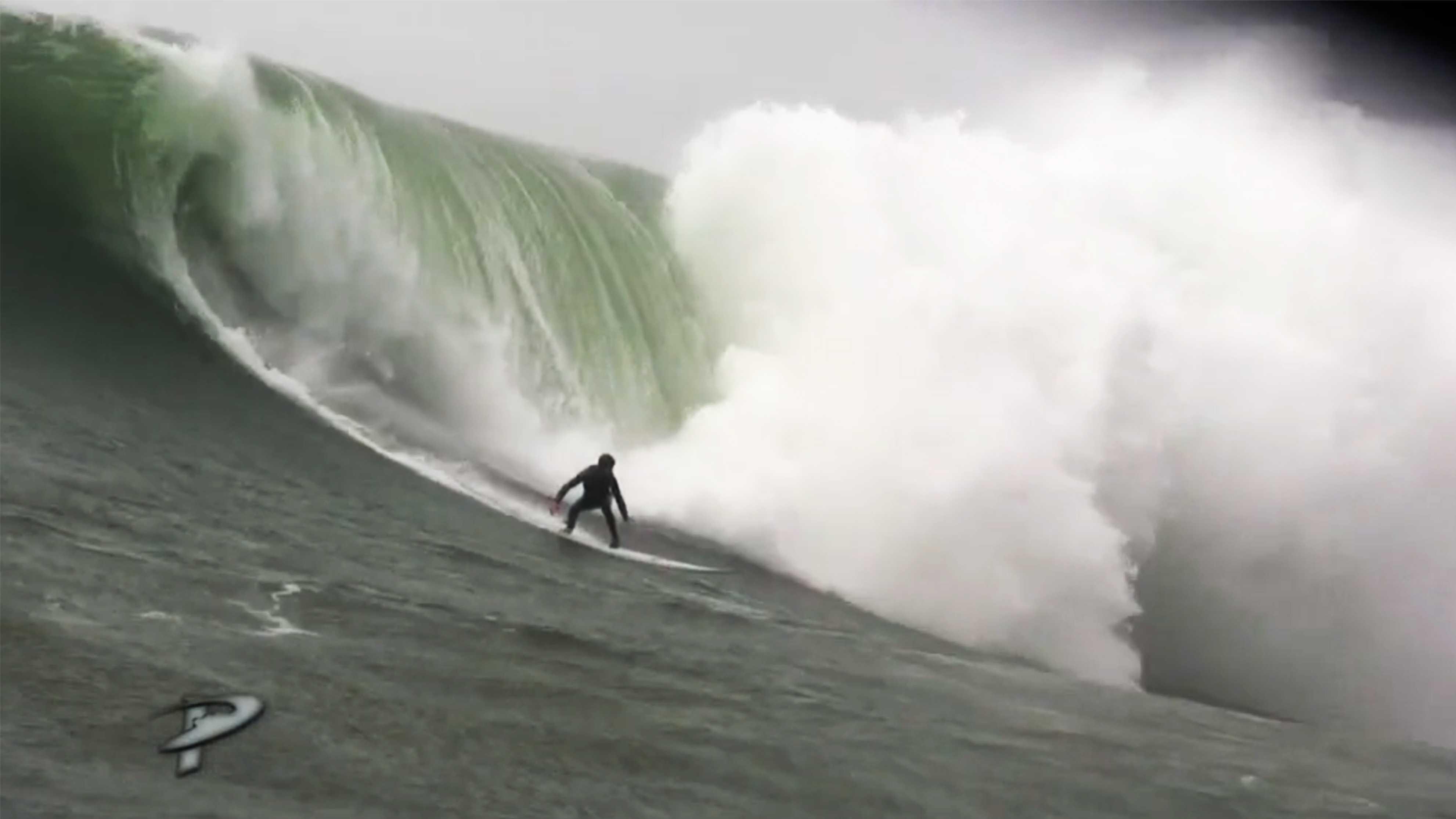 "Grant ""Twiggy"" Baker surfed Mavericks on March 16, 2014."
