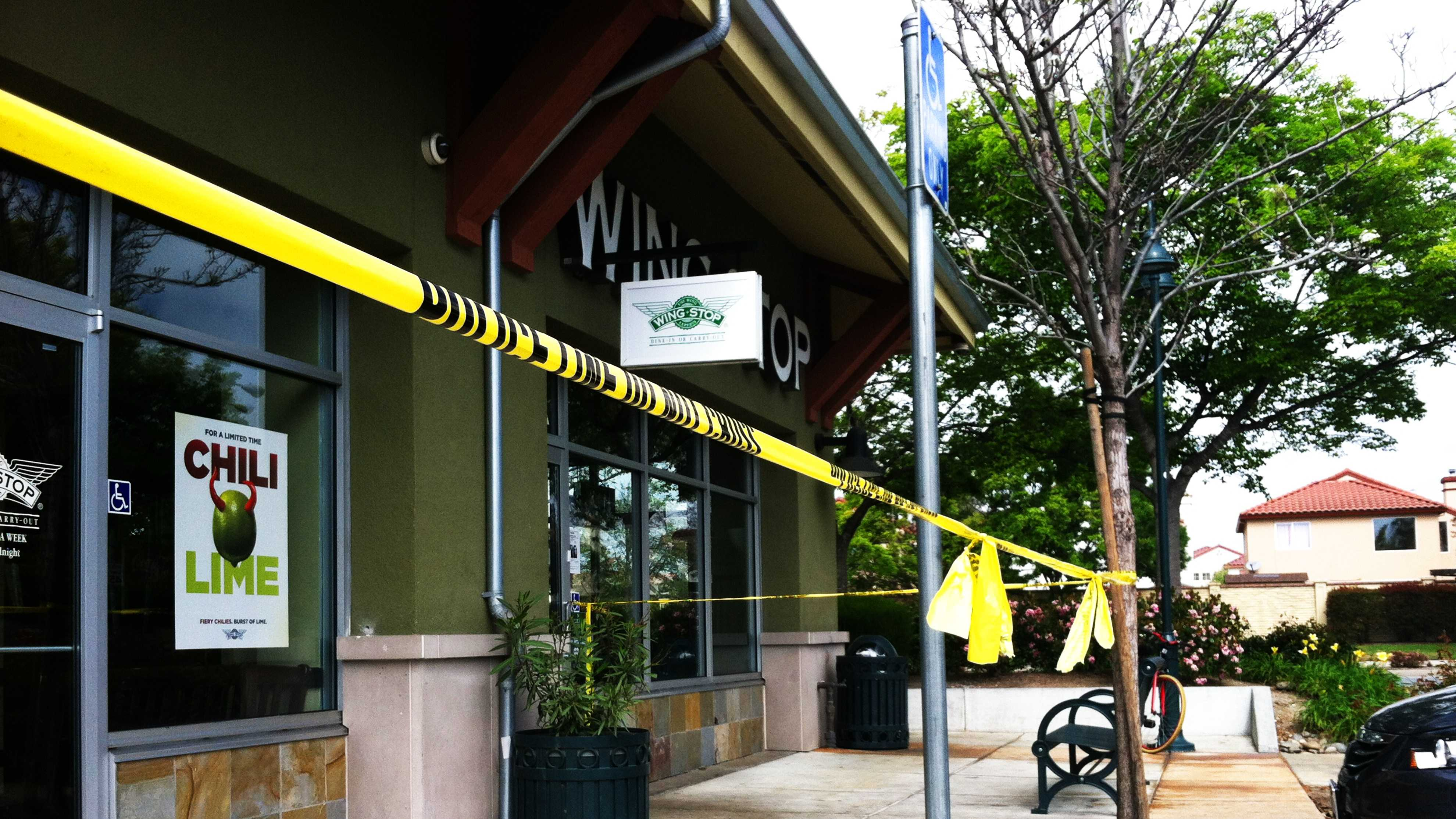 Salinas police killed a man outside this Wing Stop. (March 21, 2014)