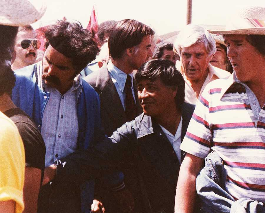 In 1979, former KSBW engineer Arnoldo Salas took photos of Cesar Chavez, center, during his last big march in Salinas.