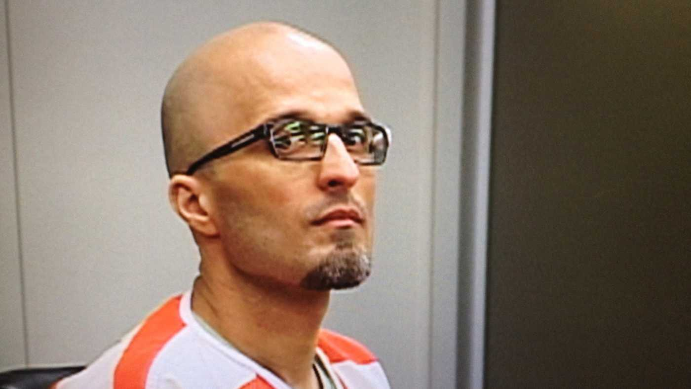Gilbert Olivares is seen in court in March 2014.