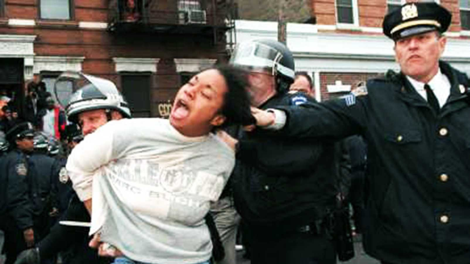 "@MoreAndAgain upload this photo tweeting, ""The #NYPD will also help you de-tangle your hair. #myNYPD."""