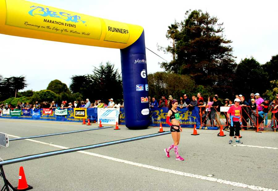 """""""I feel so great,"""" 43-year-old Olaru said while beaming with victory. """"I hope to run next year again!"""""""